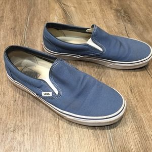 Vans Slip On Blue - USA Men's 10.5 - Lightly Used